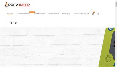 Site internet de Prev'Inter