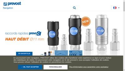 Site internet de Prevost