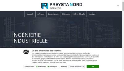 Site internet de Preysta Nord
