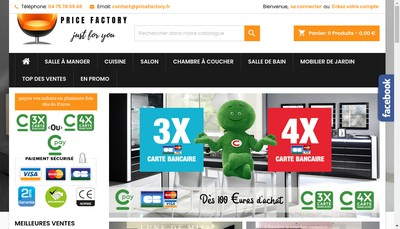 Site internet de Price Factory