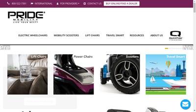 Site internet de Pride Mobility Products