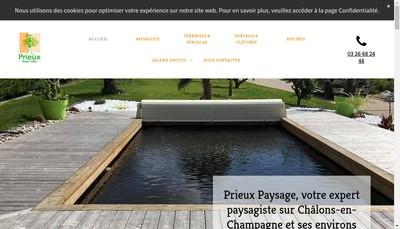 Site internet de Prieux Paysage