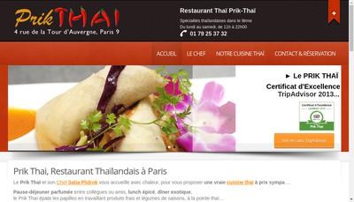 Site internet de Prik Thai