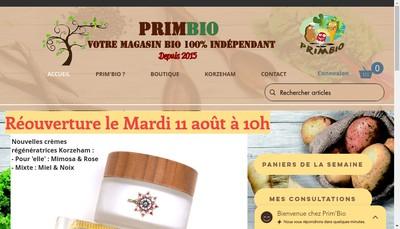 Site internet de Rg Prim Bio