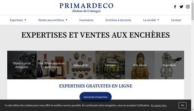 Site internet de Primardeco