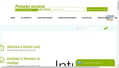 Site internet de Primelec Service