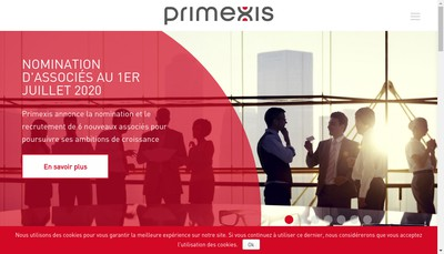 Site internet de Primexis