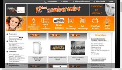 Site internet de Primo Distribution