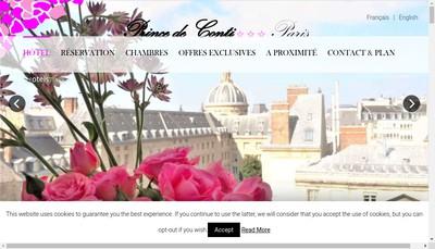 Site internet de SARL Hotel Prince de Conti