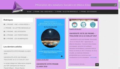 Site internet de Prisme