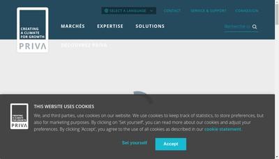 Site internet de Priva Building Intelligence