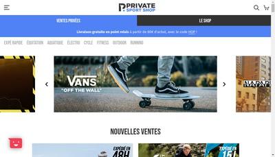 Site internet de Privatesportshop