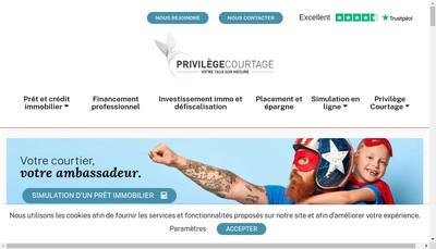 Site internet de Privilege Courtage Languedoc Roussillon