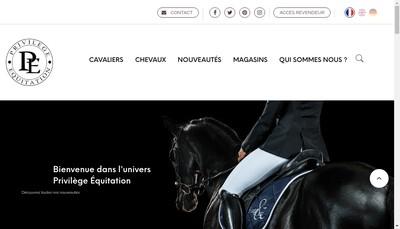 Site internet de Privilege Equitation