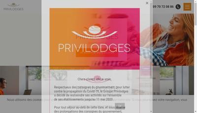 Site internet de Les Privilodges