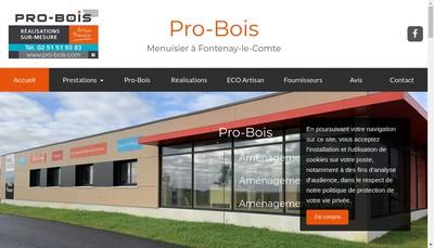 Site internet de Pro Bois