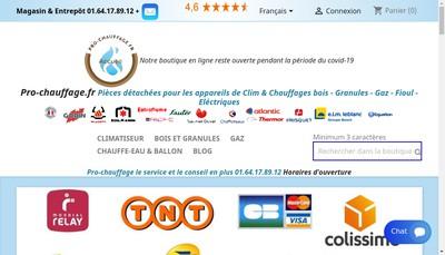 Site internet de Pro-Chauffage Fr