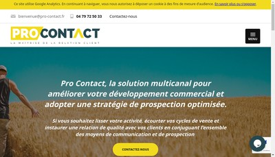 Site internet de Pro Contact