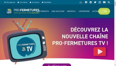 Site internet de Pro-Fermetures