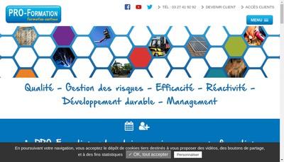 Site internet de SARL Pro Formation
