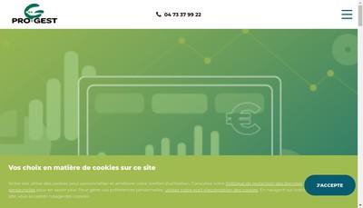 Site internet de Progest