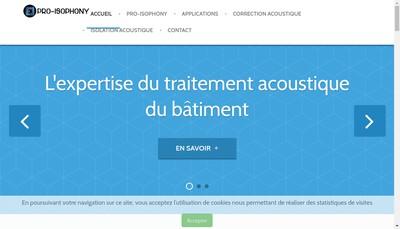 Site internet de Pro Isophony - Monpanneauacoustique Fr