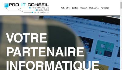 Site internet de Pro It Conseil
