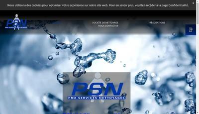 Site internet de Pro Services Nettoyages