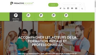 Site internet de Proactive Academy