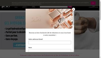 Site internet de SARL Probeautique Institut Avignon