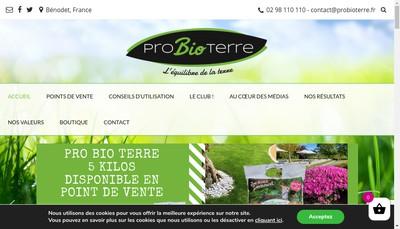 Site internet de Pro Bio Terre