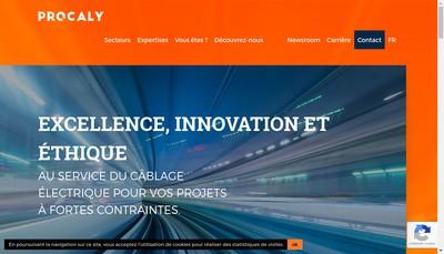 Site internet de Procaly