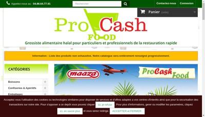 Site internet de Pro-Cash Food