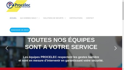 Site internet de Procelec - Cenatel