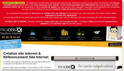 Site internet de Processx Solutions Internet