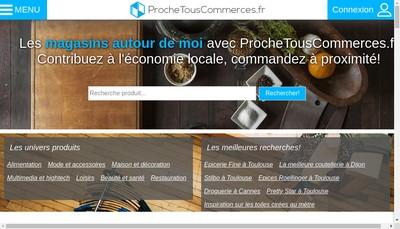 Site internet de ProcheTousCommerces