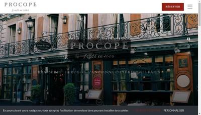 Site internet de Le Procope