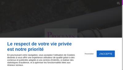 Site internet de Procuves