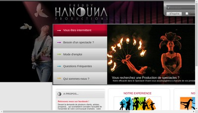 Site internet de Productions Freddy Hanouna