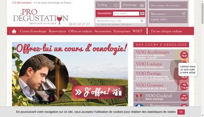 Site internet de Prodegustation