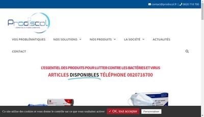 Site internet de Prodiscol