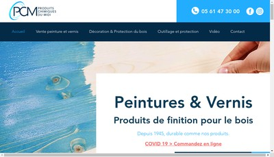 Site internet de Produits Chimiques du Midi