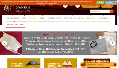 Site internet de Produits d'Antan