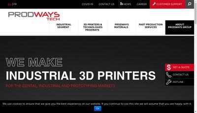 Site internet de Prodways Entrepreneurs