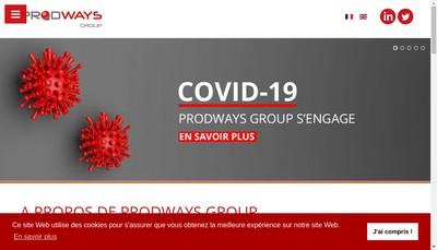 Site internet de Prodways Group