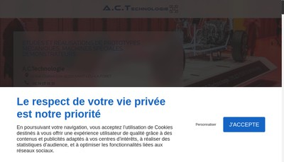 Site internet de Societe Act