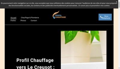 Site internet de Profil Chauffage