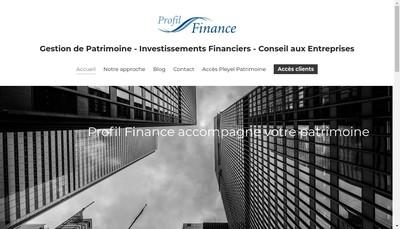 Site internet de Profil Finance