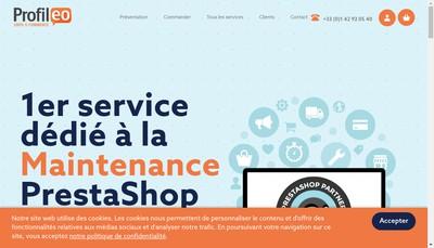 Site internet de Profileo Agency