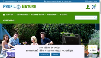 Site internet de Profil Nature